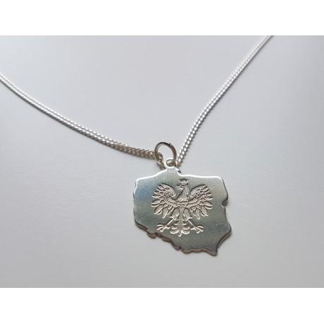 Srebrny łańcuszek Orzeł POLSKA męski