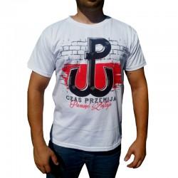 Koszulka biała CZAS PRZEMIJA - PAMIĘĆ ZOSTAJE