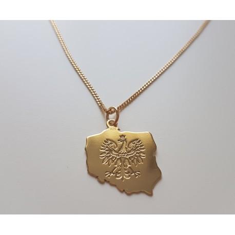 Złoty łańcuszek Orzeł POLSKA męski