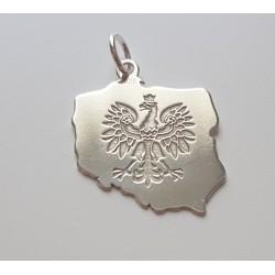 Srebrna zawieszka Orzeł POLSKA