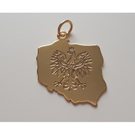 Złota zawieszka Orzeł POLSKA