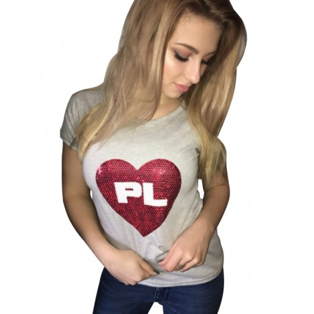 Koszulka SERCE PL - cekiny