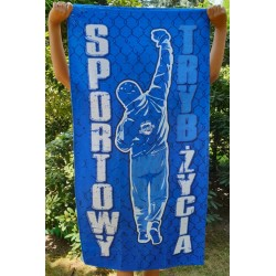 Ręcznik SPORTOWY TRYB ŻYCIA niebieski