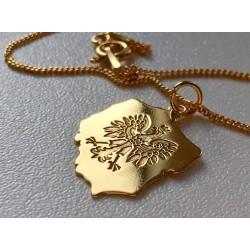 Złota bransoletka Orzeł POLSKA