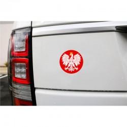 Naklejka samochodowa Orzeł na czerwonym tle