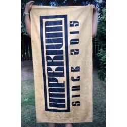 Ręcznik złoty IMPERIUM z czarnym napisem
