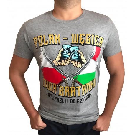 Koszulka Polak Węgier szara