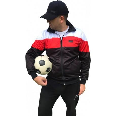 Bluza poliestrowa PROUD TO BE POLISH czarno-biało-czerwona