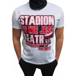 koszulka biała STADION TO NIE JEST TEATR