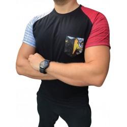 Koszulka Orzeł biało-czerwona SLIM FIT kieszonka