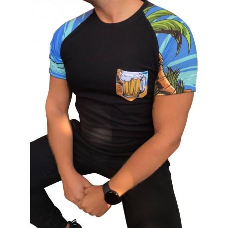 Koszulka TROPIKI SLIM FIT kieszonka