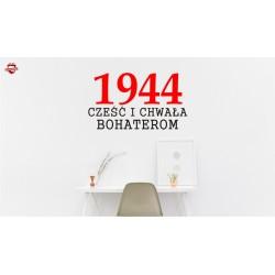Naklejka 1944 CZEŚĆ I CHWAŁA BOHATEROM