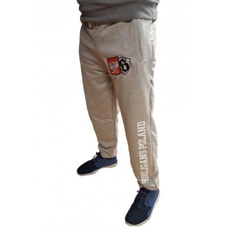 Spodnie dresowe HOOLIGANS POLAND szare