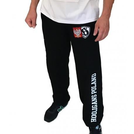 Spodnie dresowe HOOLIGANS POLAND czarne